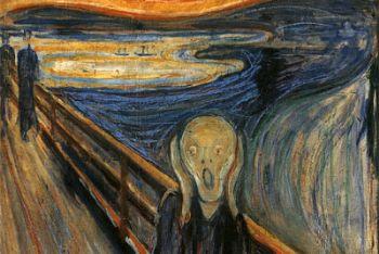 Edvard Munch, L'Urlo (1893, particolare. Foto Ansa)