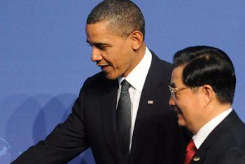 Barack Obama insieme a Hu Jintao (Ansa)