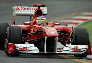 La Ferrari di Alonso, foto Ansa