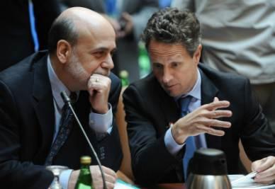 Ben Bernanke e Tim Geithner (Foto Ansa)