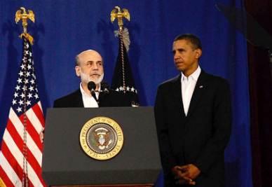 Ben Bernanke e Barack Obama (Foto Ansa)