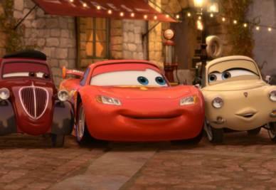Una scena di Cars 2 (Foto Ansa)