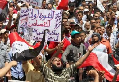 Le nuove proteste di piazza in Egitto (Foto Ansa)