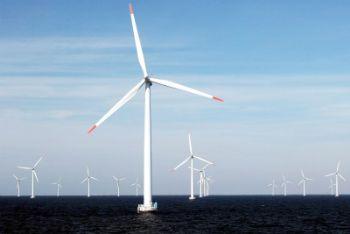 L'impianto eolico offshore di Rodsand, in Danimarca (Ansa)
