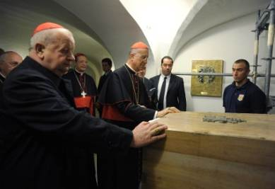 Il feretro di Giovanni Paolo II