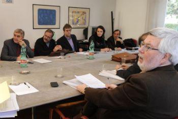 L'ultimo tavolo Federmeccanica-sindacati del 24 gennaio scorso (Foto Ansa)