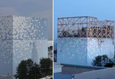 La centrale di Fukushima prima e dopo il terremoto (Foto Ansa)
