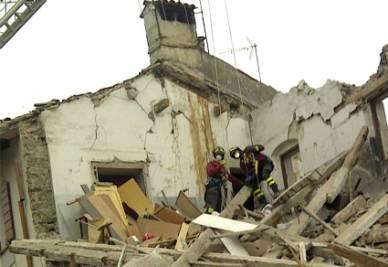 La palazzina crollata di Gradisca d'Isonzo