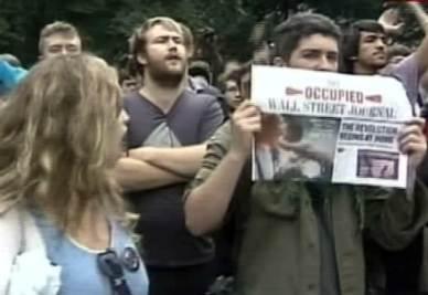 Le manifestazioni degli indignados a New York (Foto Ansa)