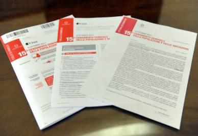 I questionari per il Censimento Istat (Foto Ansa)