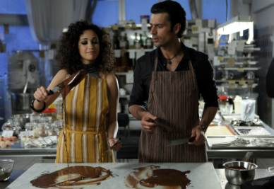 Una scena del film Lezioni di cioccolato 2 (Foto Ansa)