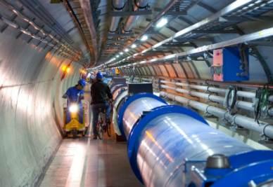 Il superacceleratore di particelle LHC (Foto Ansa)