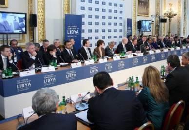 I lavori della Conferenza di Londra sulla Libia (Foto Ansa)