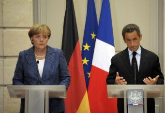 Angela Merkel e Nicolas Sarkozy (Ansa)