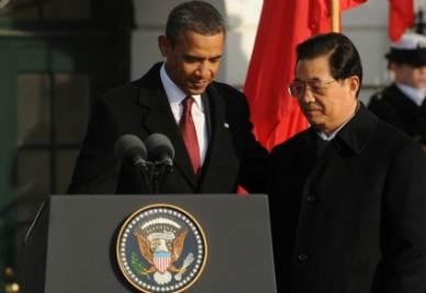 Barack Obama e Hu Jintao (Foto Ansa)