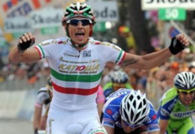 Pozzato quando era campione d'Italia (foto Ansa)