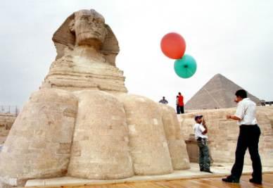 La Sfinge di Giza (Foto Ansa)