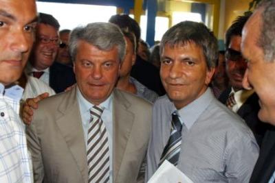 Alberto Tedesco e Nichi Vendola (Ansa)
