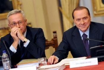 Giulio Tremonti e Silvio Berlusconi (Foto Ansa)