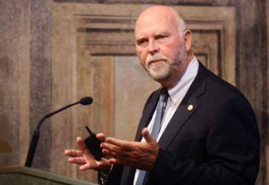 """Craig Venter, scopritore della """"vita artificiale"""" (Foto Ansa)"""