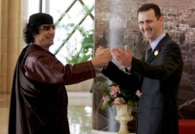 Muammar Gheddafi e Bashar Assad