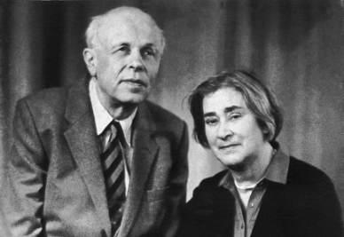 Elena Bonner con il marito Sakharov