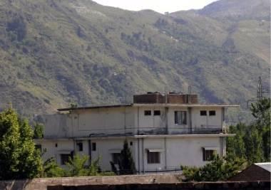 La casa dove viveva Osama bin Laden, foto Ansa