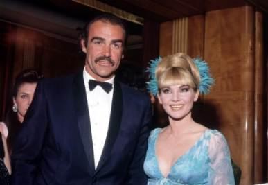 Diane Cilento con l'ex marito Sean Connery