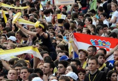 In 400mila alla messa del Papa a Zagabria, foto Ansa