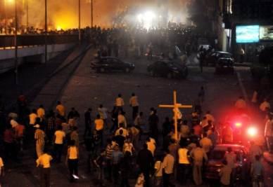 Gli scontri sul ponte sul Nilo