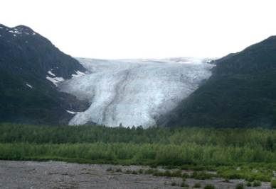 I piedi del ghiacciaio Exit in Alaska