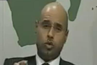 Il figlio di Gheddafi, foto Ansa