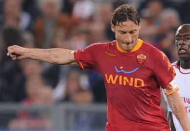 Francesco Totti, capitano Roma (Foto Ansa)