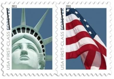 I francobolli delle poste Usa