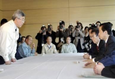 Il primo ministro riceve la delegazione di Fukushima