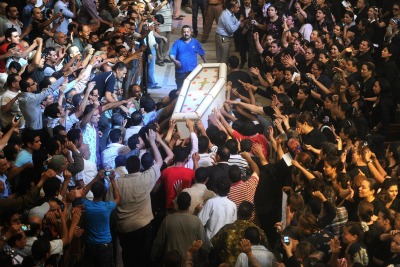 Funeral of the Copts killed in the clashes with the army   (photo ANSA)