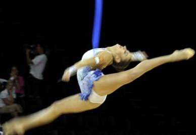 I mondiali di ginnastica ritmica di Montpellier (Foto Ansa)