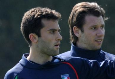 Giuseppe Rossi e Antonio Cassano (foto Ansa)