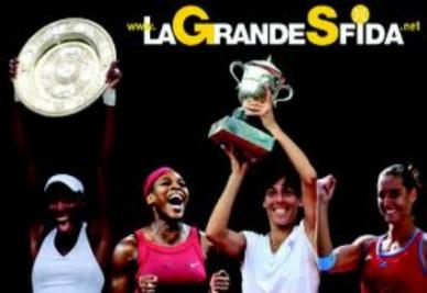La grande sfida, ora in campo Venus Williams-Francesca Schiavone