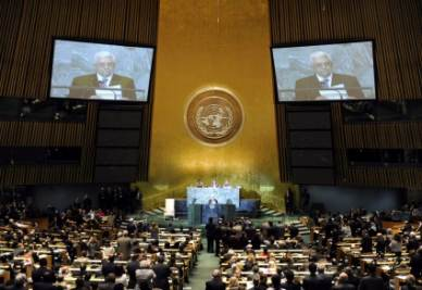 Abu Mazen all'Onu