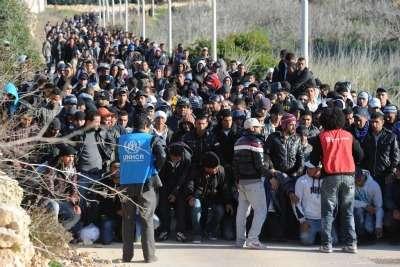 Immigrati a Lampedusa (Foto: Ansa)