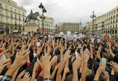 Gli indignados spagnoli
