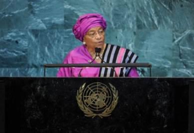 La presidentessa della LIberia, foto Ansa