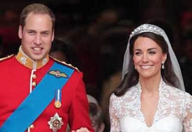 Il duca e la duchessa di Cambridge sposi