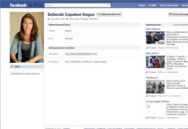 La pagina su Facebook di Deborah Copaken Kogan