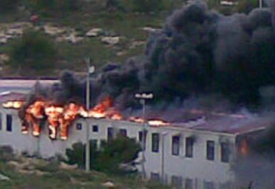 Un precedente incendio al centro di accoglienza