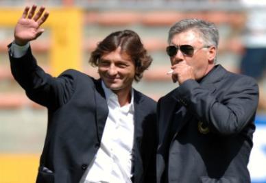 Ancelotti e Leonardo (foto Ansa)