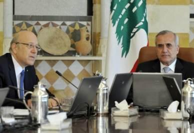 Nagib Mikati e il presidente Suleiman il giorno della formazione del governo (Ansa)