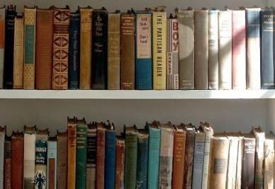 Uno scorcio della biblioteca di Ernest Hemingway (Ansa)