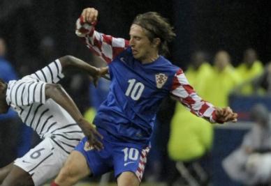 Il croato Luka Modric (foto ANSA)